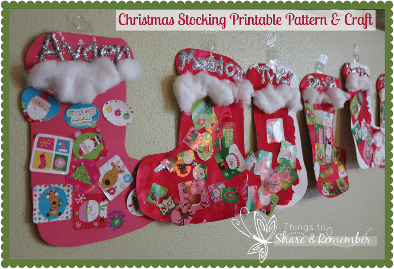 Christmas Stocking Craft And Printable Pattern