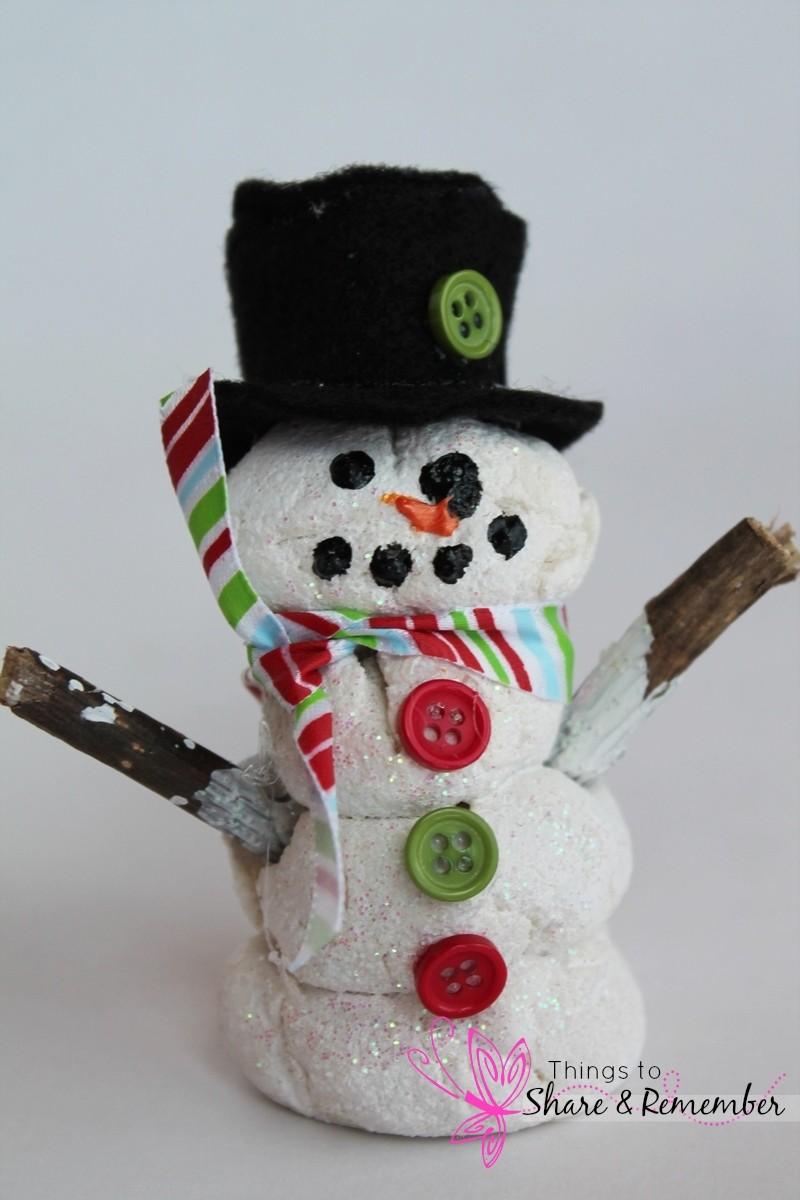 Salt Dough Snowmen