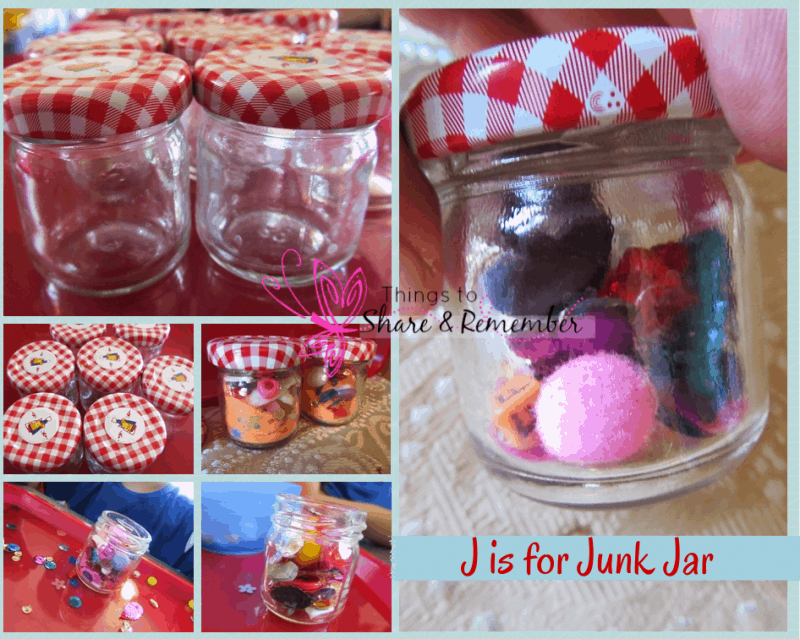 J is for Junk Jar ~ Preschool Alphabet Activities