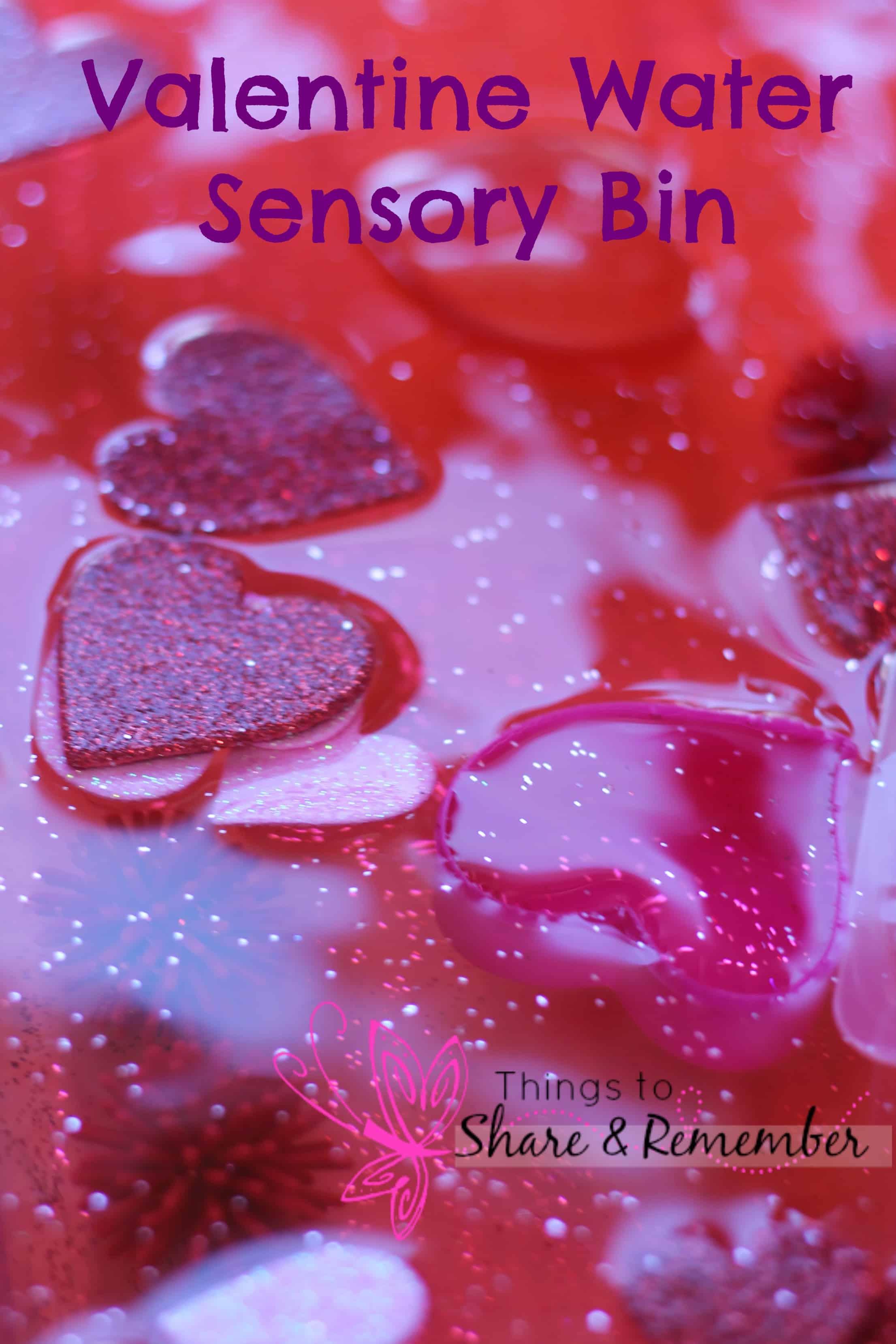 Valentine Water Sensory Play