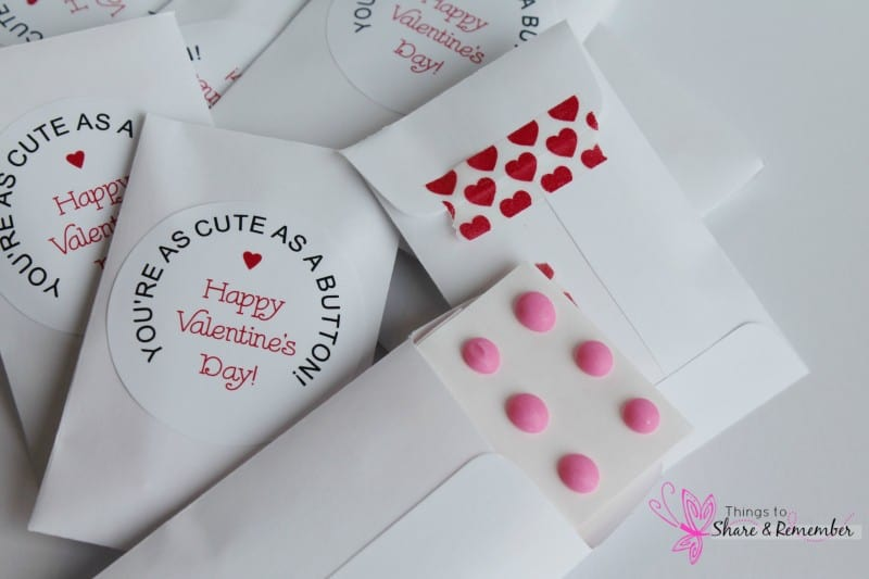 Cute As a Button Valentines - Share & Remember