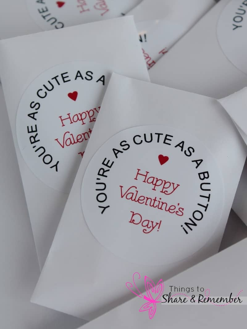 Cute As a Button Valentine - Share & Remember