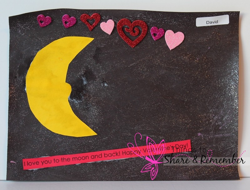 I love you to the moon & back valentine art