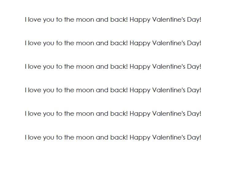 Love you to the moon printable 2