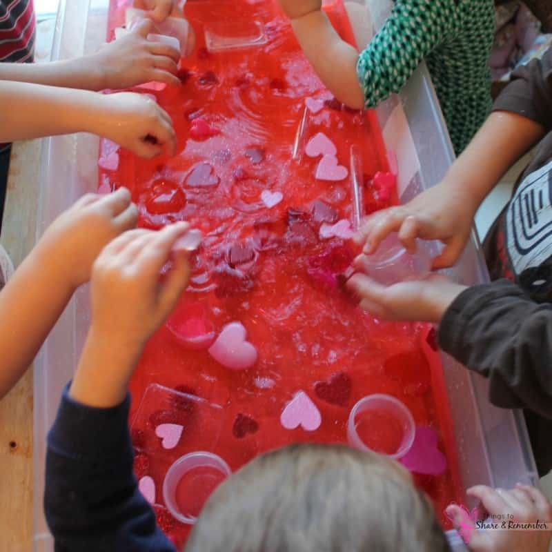 Valentine Water Sensory Play