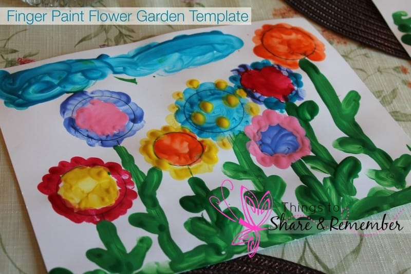 Finger Paint Flower Garden Painting