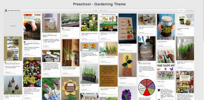 preschool gardening theme