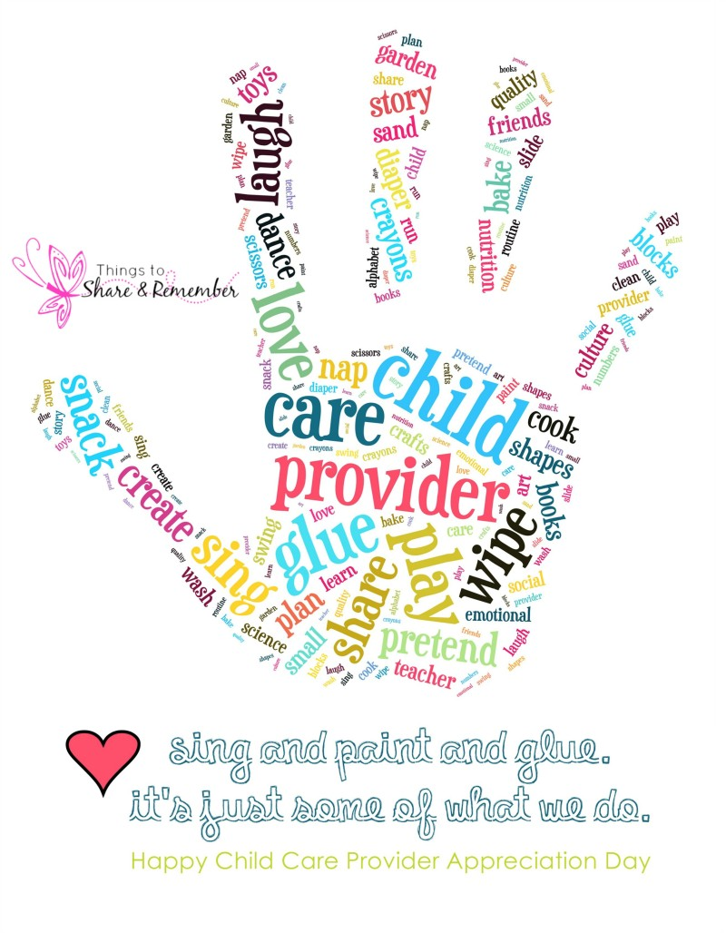 Child Care Quotes Child Care Provider Appreciation Day Printable