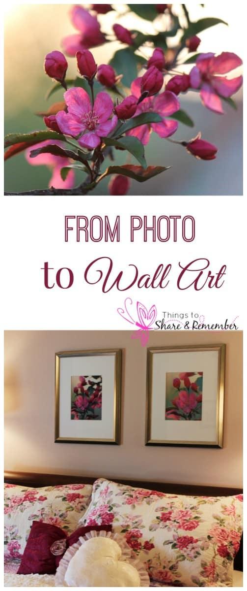 DIY wall art using photos