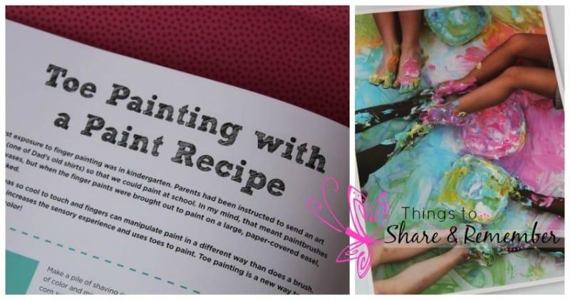 101 kids activities book toe painting activity