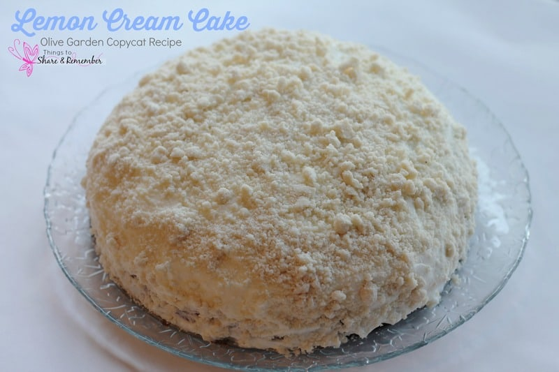Lemon Cream Cake Olive Garden Copycat Recipe