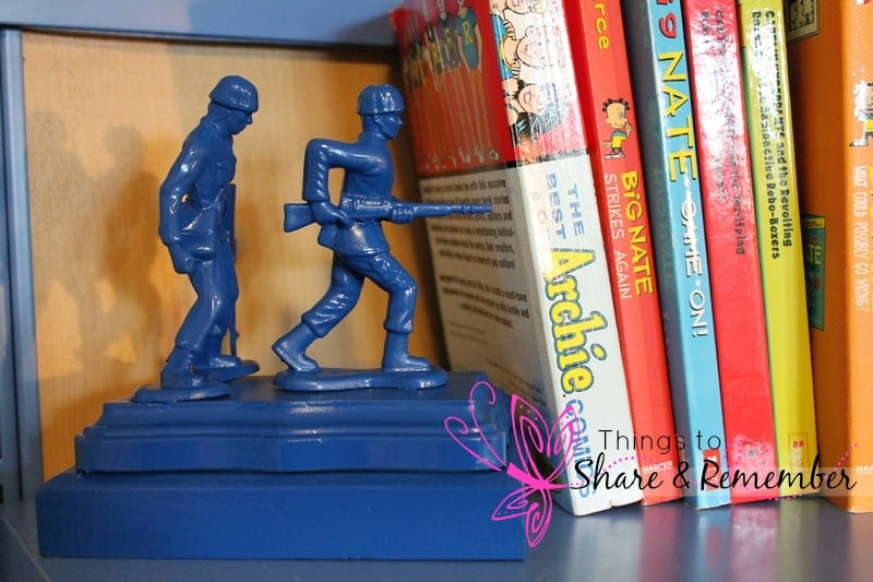 DIY Army Guy Book Ends