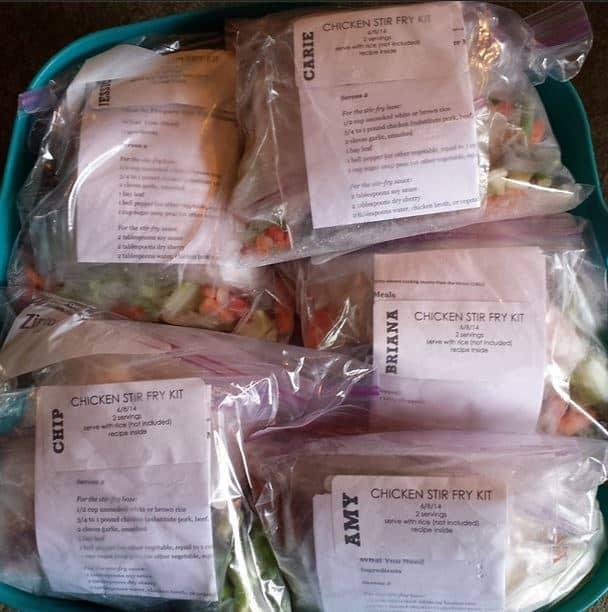 chicken stir fry kit freezer meal
