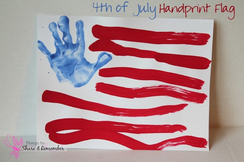 4th Of July Hand Print Flag