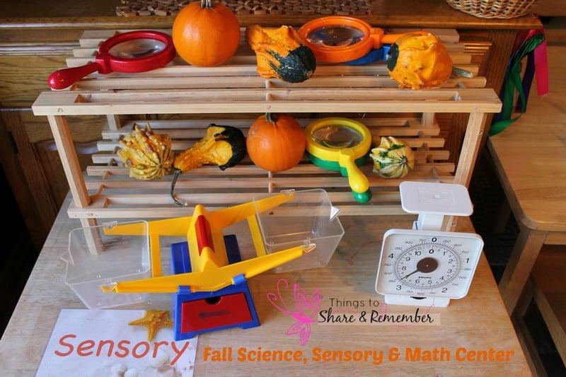Fall Science, Sensory & Math Center
