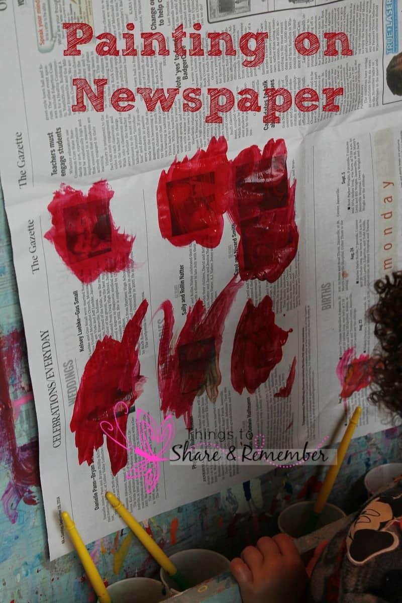 Newspaper Ideas for Preschoolers