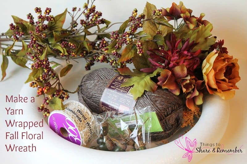 Yarn Wrapped Fall Floral Wreath - Share & Remember