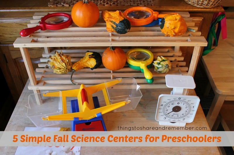 Simple Fall Science Centers for Preschoolers