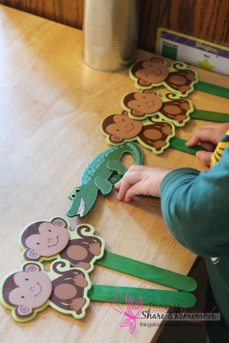 5 Little Monkeys Puppets
