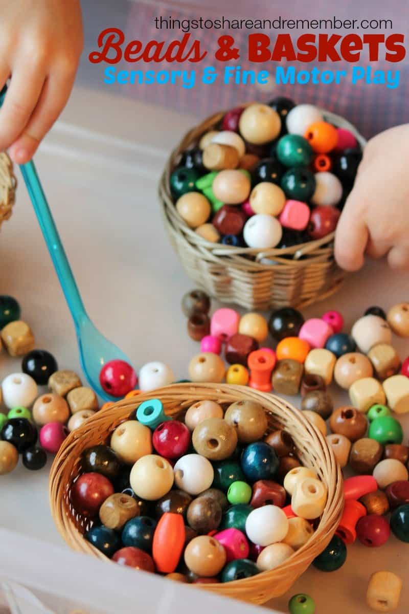 Beads and Baskets Sensory & Fine Motor Play