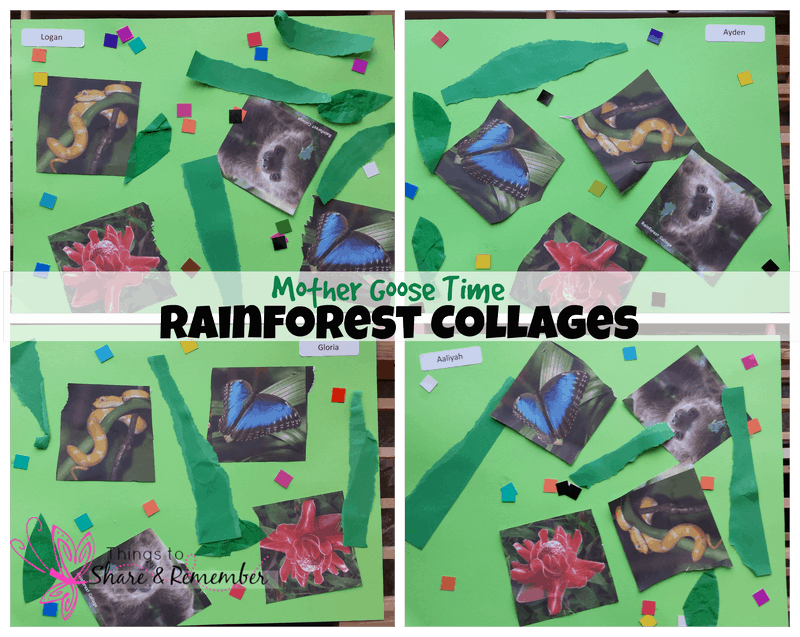 Mother Goose Time Rainforest Theme Collages
