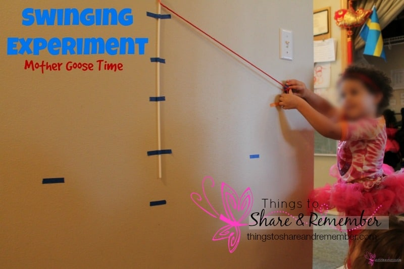 Swinging Science Experiment for Preschoolers