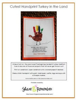 handprint turkey printable