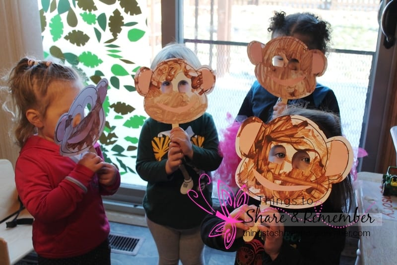 monkey masks Rainforest Adventure Mother Goose Time