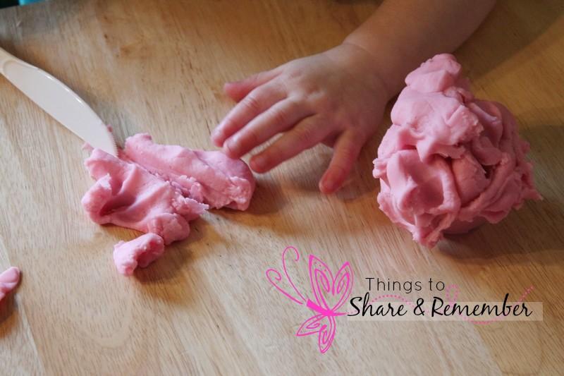 pink play dough