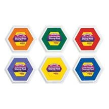 Colorations Classic Colors Jumbo Washable Stamp Pads - Set of 6