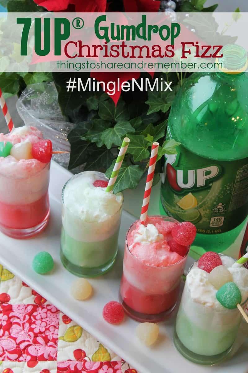 7UP® Gumdrop Christmas Fizz Recipe #ad