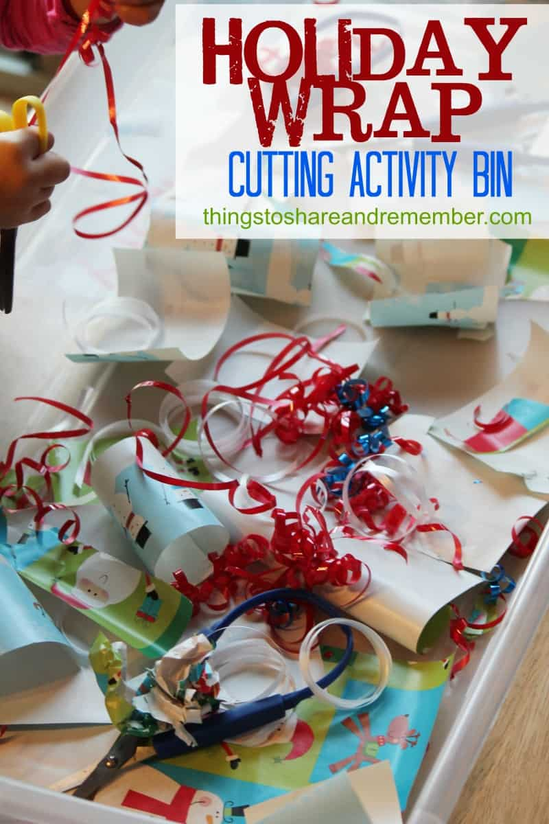 Holiday Wrap Cutting Activity Bin - Share & Remember