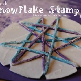 http://www.thingstoshareandremember.com/homemade-snowflake-stamp-paintings/