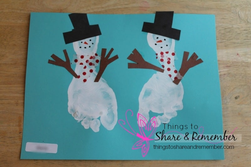 Footprint Snowman Art - Share & Remember