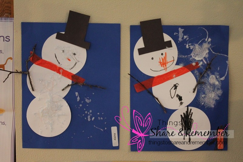 Build a Snowman Art for Preschoolers - Mother Goose Time Winter Wonderland theme project