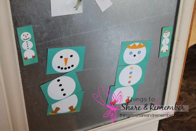 snowman puzzles Build a Snowman Art for Preschoolers #MGTblogger Things to Share & Remember