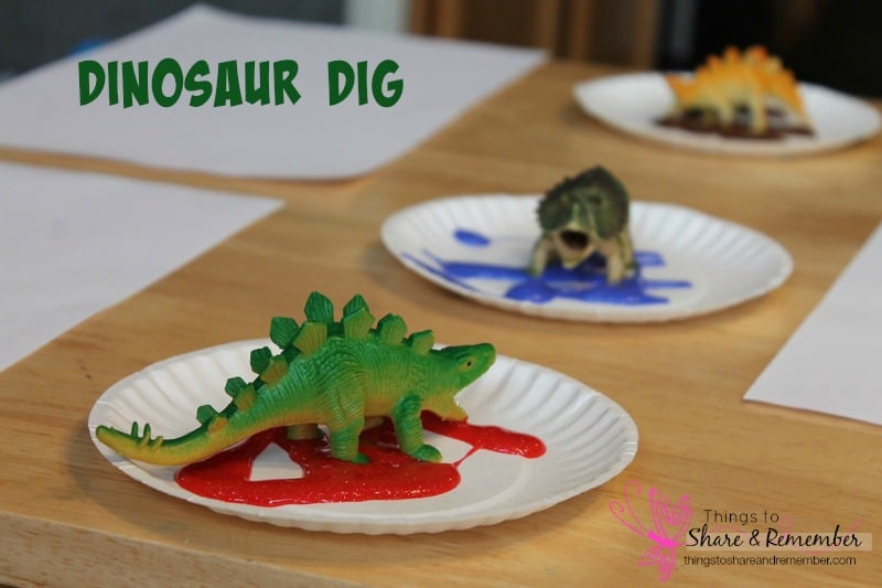 Dinosaur Dig Preschool Activities
