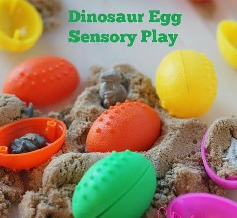 Dinosaur Egg Sensory Play Bin