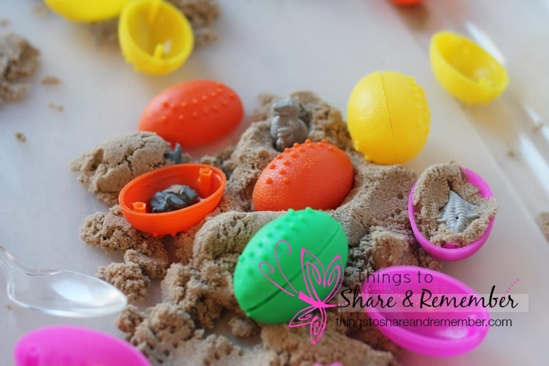 Dinosaur Egg Sensory Play - oval shape activity