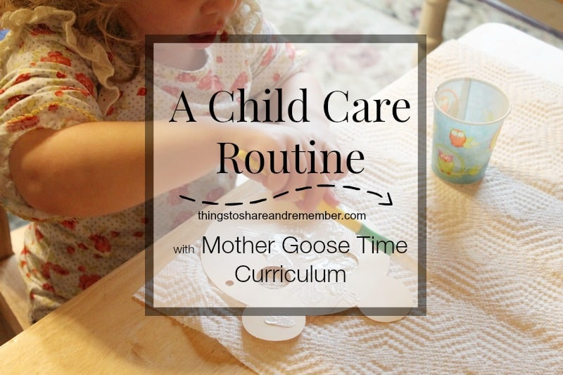 A preschool routine benefits everyone!