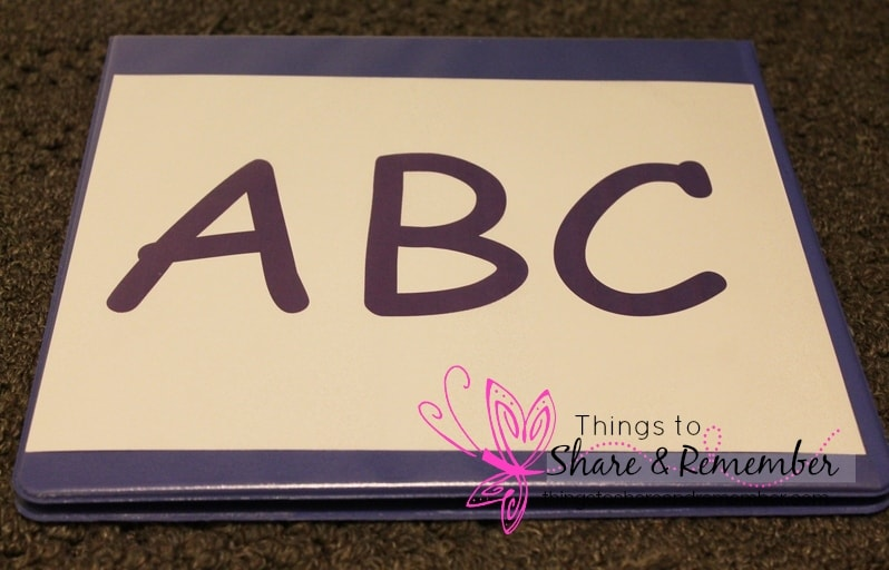 storing alphabet letter sets - child care preschool storage -organizing preschool curriculum