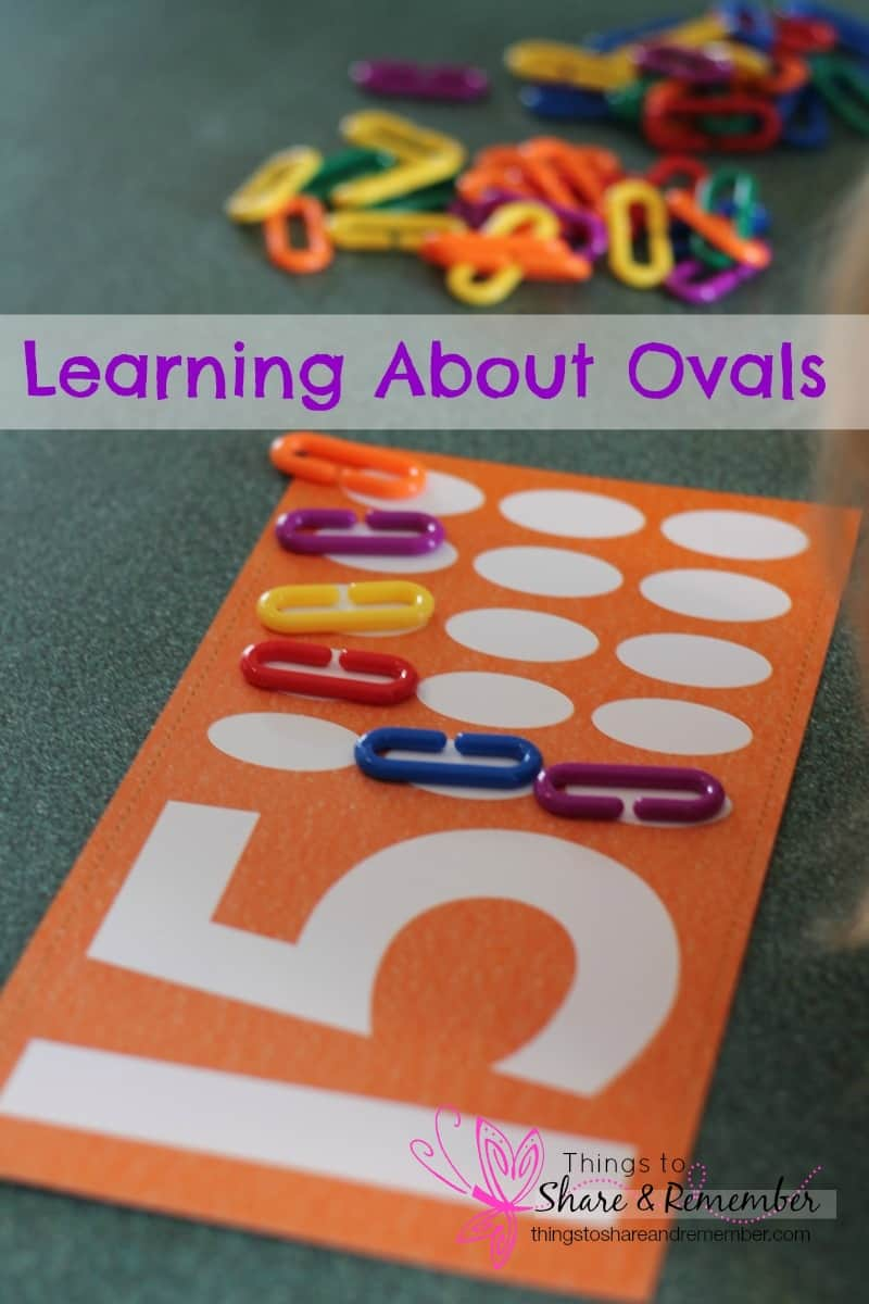 Learning about Ovals - various ways for preschoolers to learn about the oval shape. Includes fine motor, sensory play and art ideas. Free book giveaway!