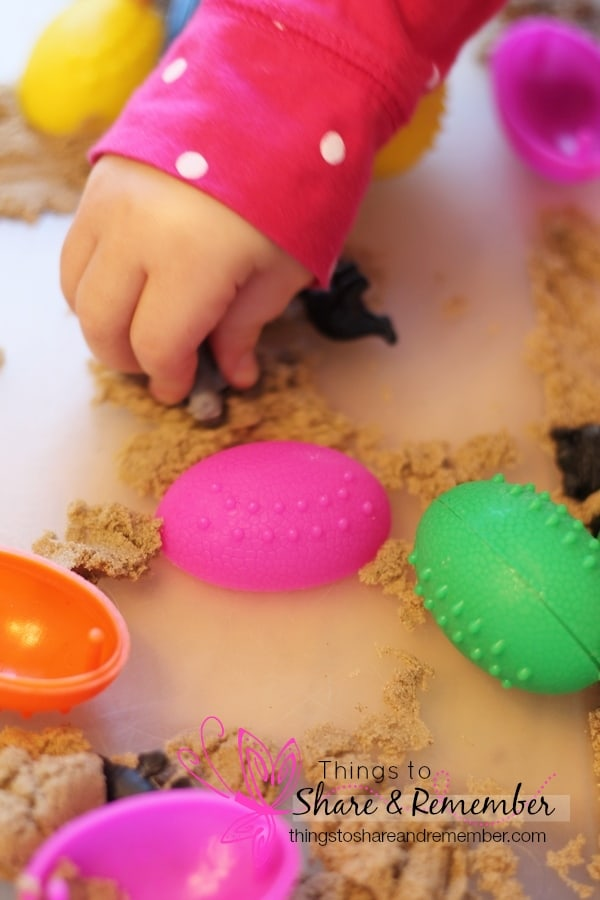 Dinosaur Egg Sensory Play