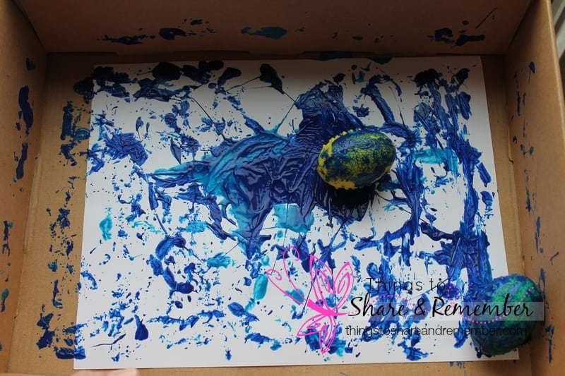 Learning about Ovals #MGTblogger - dinosaur egg painting