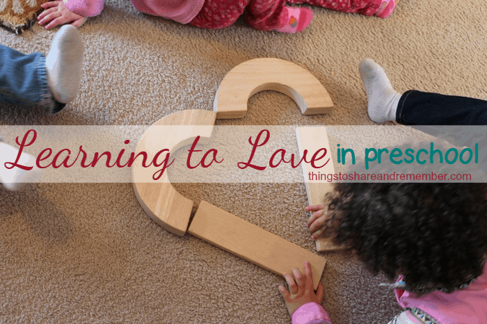 Learning to Love in preschool #MGTblogger heart blocks