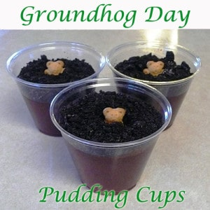 We Made That: Groundhog Pudding Cups