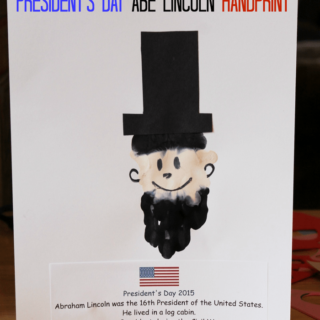 President's Day Abe Lincoln Handprint