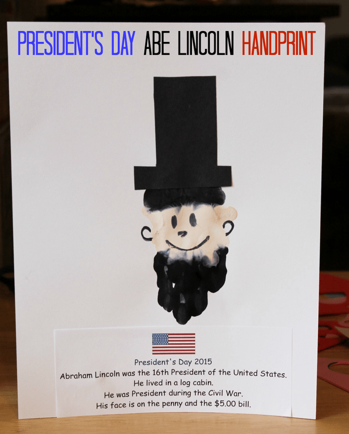 President's Day Abe Lincoln Handprint