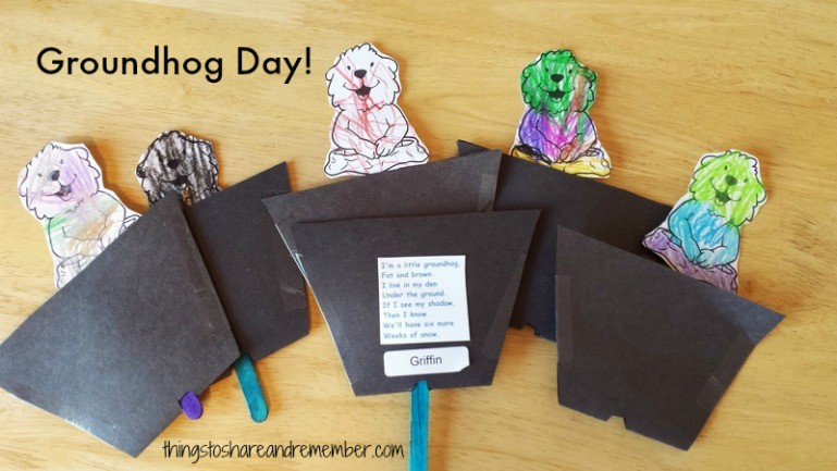Groundhog Day Activities & Printable Song Card - Share & Remember