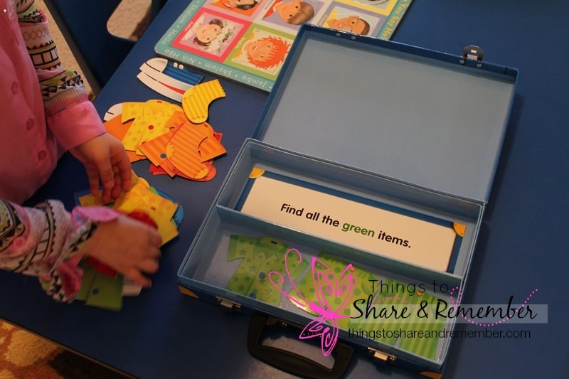 Around Our Room ~ Small World Preschool Theme - sorting suitcase game